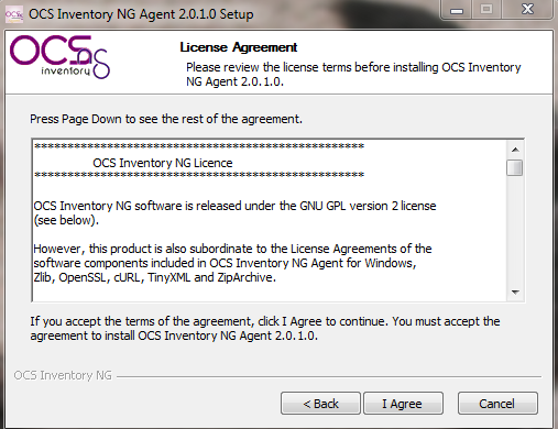 ocs-ng windows agent setup.exe