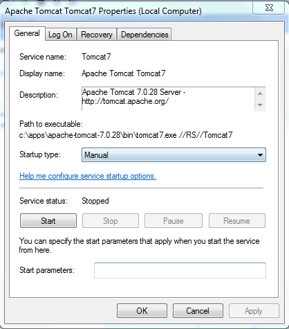 apache tomcat 7  for windows