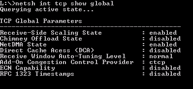 How To Disable TCP Chimney Offload, RSS and NetDMA in