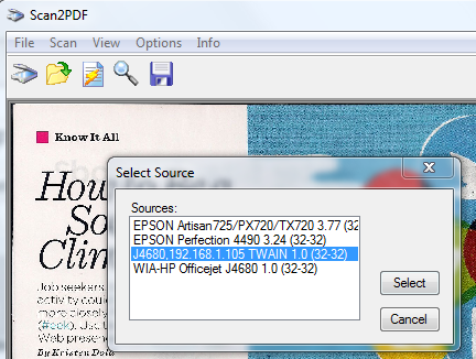 Scanning multiple page document with Windows Fax and Scan