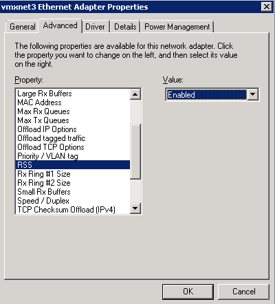 Network performance with VMXNET3 on Windows Server 2008 R2