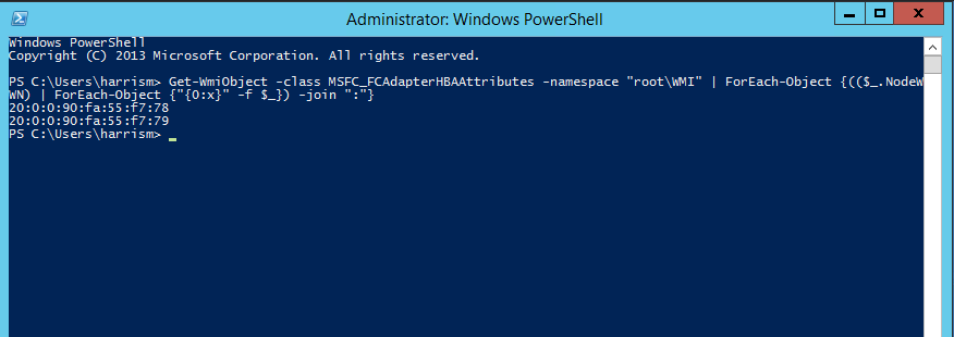 Finding WWN's on Windows Server 2012 Using PowerShell | Life