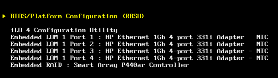 How To change BIOS from UEFI to Legacy on HP GEN9 servers
