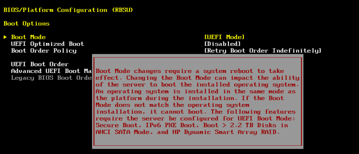How To change BIOS from UEFI to Legacy on HP GEN9 servers | Life of