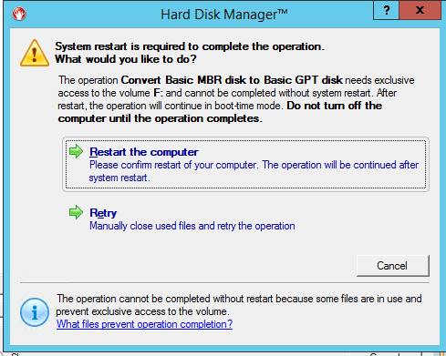 How to Convert MBR to GPT Using Paragon Hard Disk Manager 15