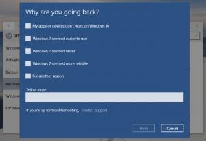 Windows 10 uninstall Reason