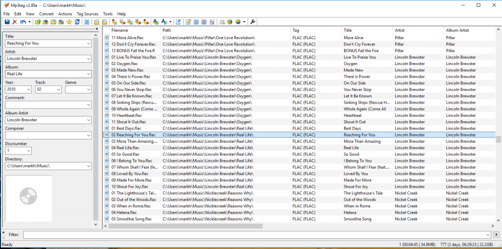 Adding Cover Art to FLAC file from Command Line and GUI