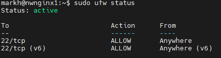 UFW Status